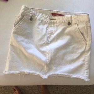 White GAP Jean skirt